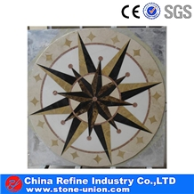 Multicolor Marble Stone Mosaic Medallion