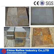 Natural Split Slate Tile, China Grey Slate