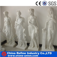 Pure White Marble Human Statue,Women Sculptured