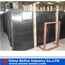 Royal Black Wood Vein Marble Slabs & Tiles