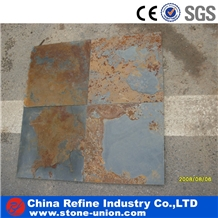 Rusty Slate Tiles for Exterior Flooring Paving