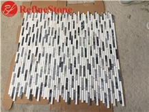 White and Grey Marble Mosaic for Wall Decoration