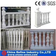 White Marble Balustrade,Railings and Handrails