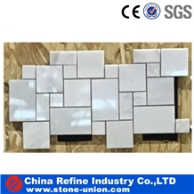White Marble Mosaic Tile,Bathroom & Wall Mosaic