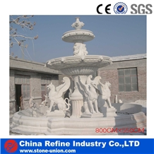 White Marble Sculptured Fountain & Waterfall