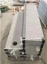 Granite Block Steps with Dark Grey Antislip Strip