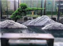Grey Landscape Garden Scenery Natural Stone Decor