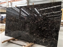 China Marron Dark Emperador Irish Brown Marble Slab