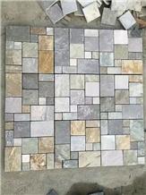 Mosaic Pattern in Slate,Multi Color Slate Mosaics
