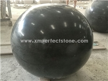 Dark Grey Black Granite Road Bollards Parking Ball