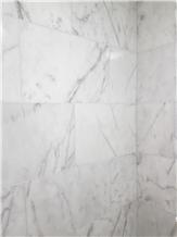 Turkish Carrara White Marble Tiles, Mugla White