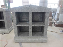 Cemetery Usage G633 Gray Granite Columbarium Niche