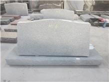 China Cheap G633 Granite Slant/Bevels Headstone