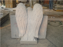 G633 Gray Granite Weeping Angel Monument
