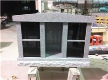 Grey and Black 4 Niche Cremation Granite Urn