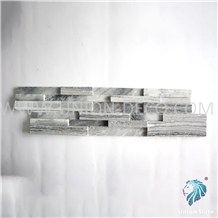 Natural Cloudy Gray 15x55cm Polished Stone Panel