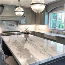 Namib White Marble Countertops,Kitchen Tops