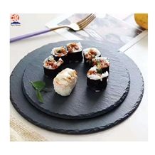 Black Slate Round and Square Seriving Tray