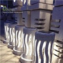 Hollow Carved Stone Lanterns Landscape