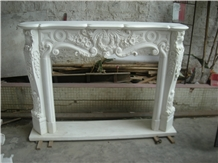 Stone Fireplaces Antique Design Marble Mantle