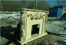 Victorian Style Fireplace Stone Hearth Mantel