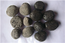 Black Lava Pebbles for Firepits Decorative Stone
