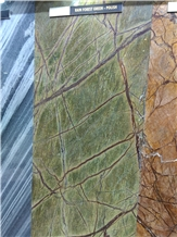 Rainforest Green Marble Slabs, Tiles Cut to Size