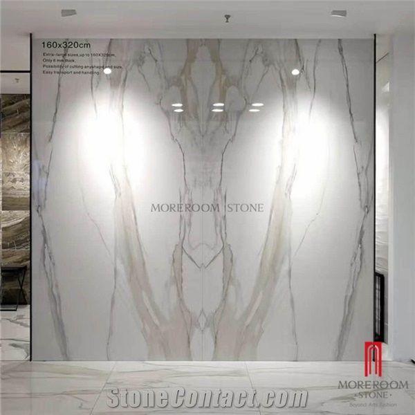 Bookmatch White Marble Look Porcelain Slab Foshan Mono Building Material Co Ltd Moreroom Stone