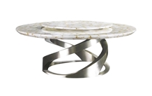 Round Luxury Marble Coffee Dining Table Top Design