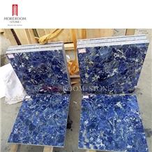 Sodalite Blue Precious Stone Slab Tiles
