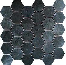 Vietnam Marble Hexagon Mosaic Tile