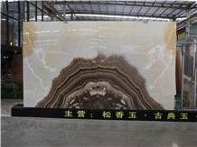 Rosin Jade Onyx Yellow White Slab