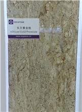 African Gold Premium Granite Slabs, Tiles