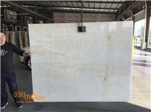 China Ice Onyx Slabs/Nice Transparent