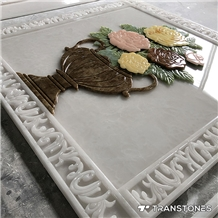 Chinese Style Cnc Cut Faux Alabaster for Wall Ceilings