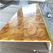 Translucent Yellow Alabaster Bar Counter Top