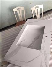 Bianco Calacatta White Marble Vanity Countertop