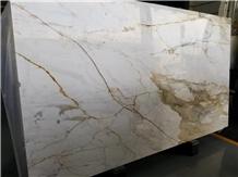 Calacatta Gold Marble Di Siena Vena D`Oro Slab