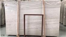 China Beige Platinum Wood Grain Marble Slab Tile
