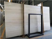 China Ginkgo Wood Grain Beige Marble Slab Floor