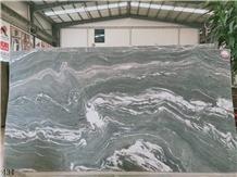 China Nine Dragon Jade Wave Green Marble Kowloon