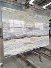 Connemarble Amazon Forest Green Marble Slab Wall