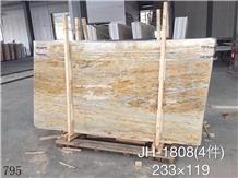 Golden Peacock Marble Jade Slab Walling Tile Floor