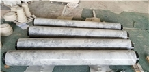 Grey Marble Shaft Porch Hollow Carved Column