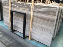 Grey Wooden Grain Marble Slabs Floor Tiles China