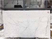 Statuario Venato White Marble Slabs Wall Panel