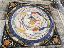 Stone Marble Tile Floor Round Waterjet Medallions