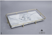 Stone Rectangle Marble Storage Plate Dish Saucer