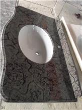 Turtle Venato Marble Bathroom Bath Vanity Top