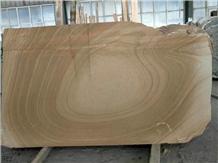 Utopia Marble Wood Grain Brown Beige Slab Tile